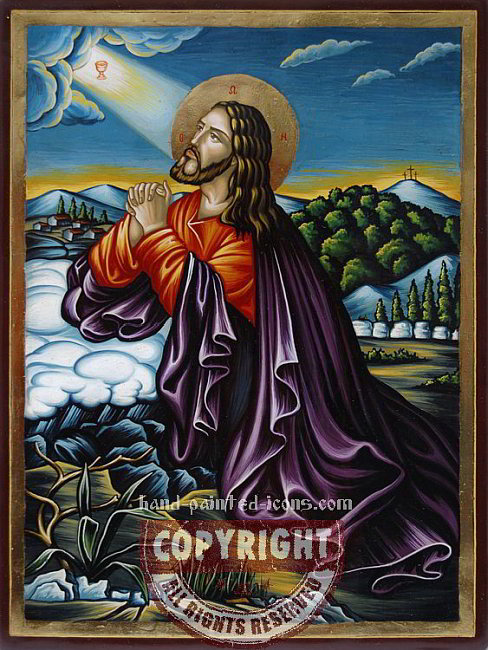 Christ-in-the-Garden-of-Gethsemane-hand-painted-icon-2