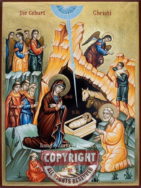 Die Geburt Christi-handgemalte Ikone