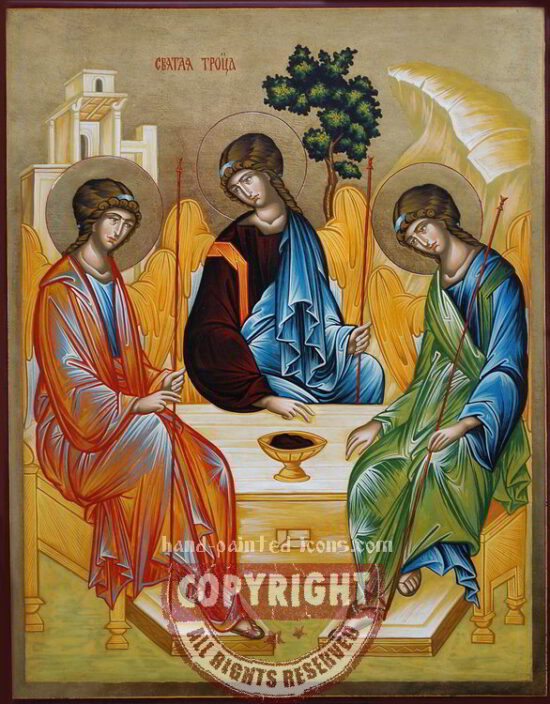 Old-Testament-Trinity-by-Rublev-hand-painted-icon-45x35cm