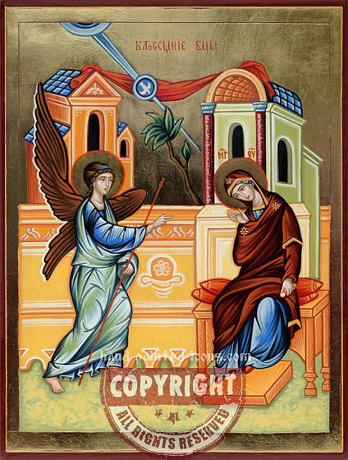The Annunciation-hand-painted-icon-v2