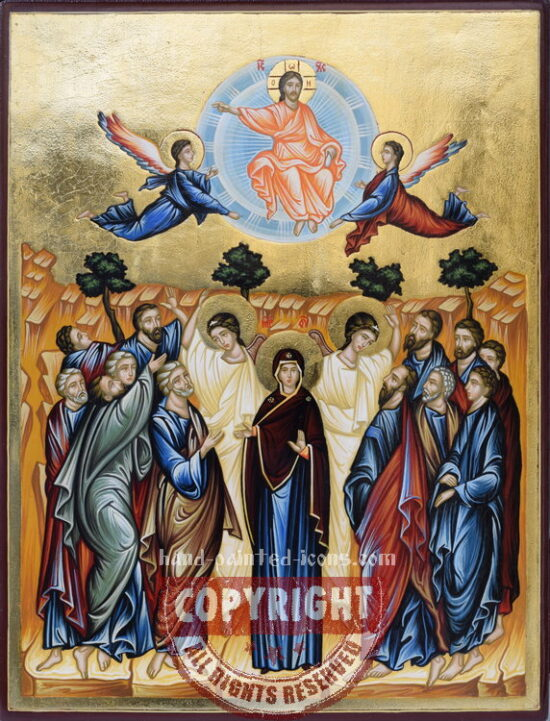 The Ascension of the Lord-hand-painted-icon-28x21