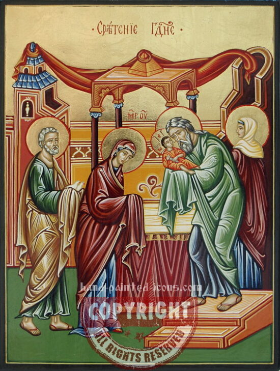 The Presentation of Christ in the Temple-hand-painted-icon