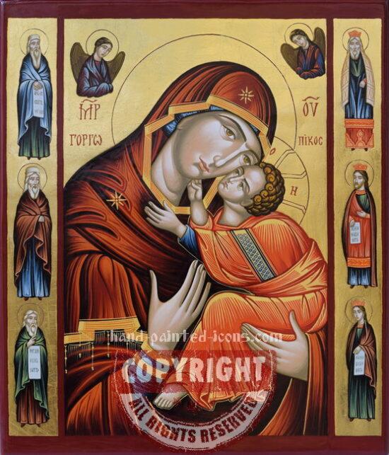 The Virgin - Eleussa-hand-painted-icon-40x34cm