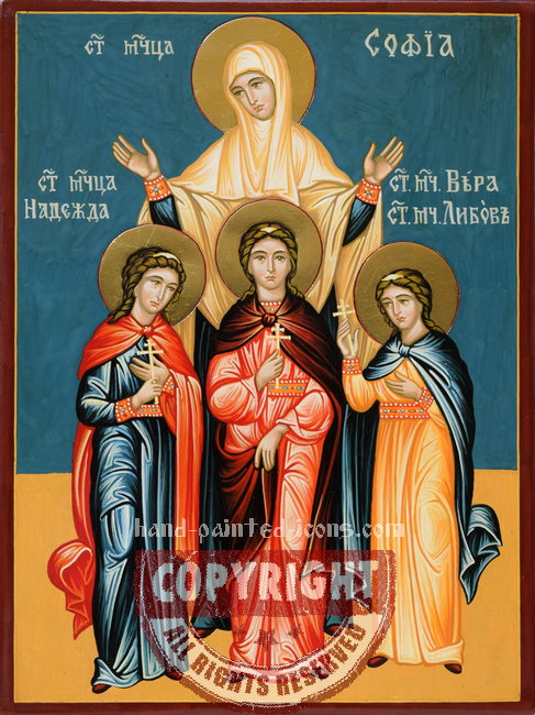 Saint Sophia and her daughters-had-painted-icon