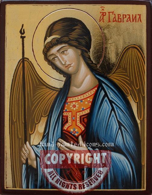 St Archangel Gabriel-hand-painted-icon-v1