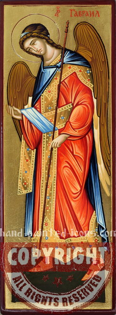 St Archangel Gabriel-hand-painted-icon-v2