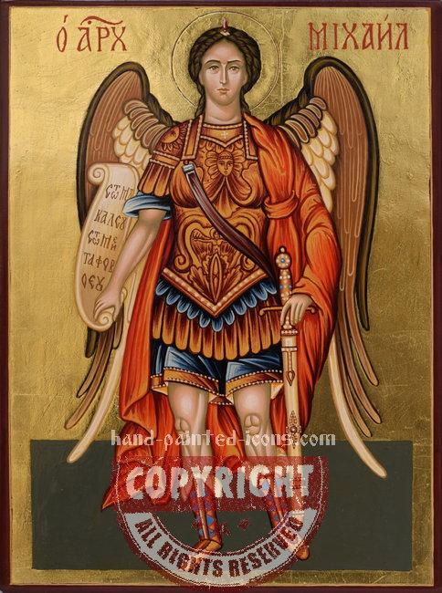St Arhangel Michael-hand-painted-icon-v6