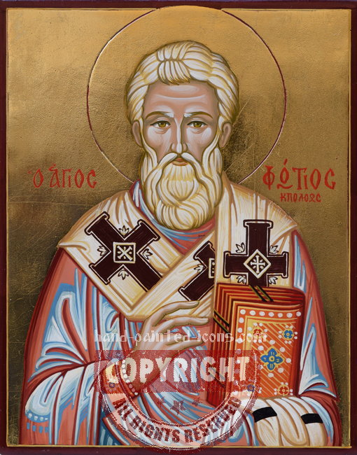 Saint Photios (Fotios) of Constantinople-hand-painted icon
