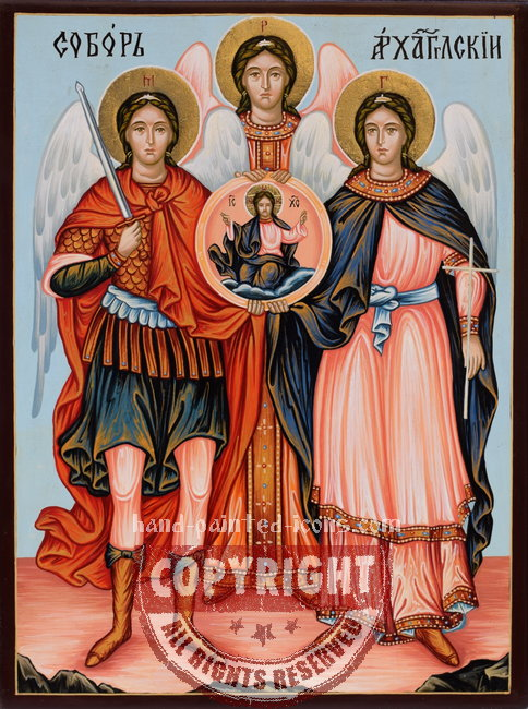 Synaxis of the Holy Angels (v1)- hand-painted icon