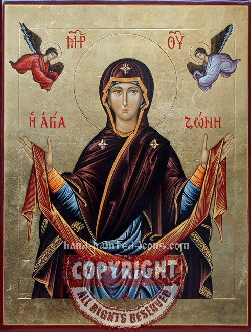 Protecting Veil-Intercession of the Theotokos-v1-hand-painted-icon-40x30