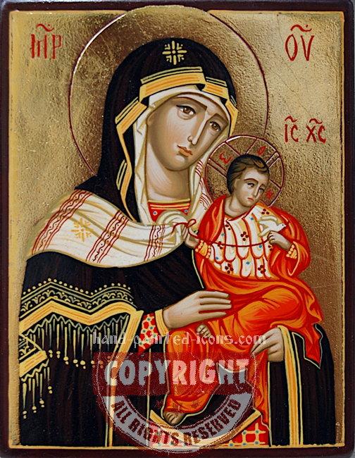 The Holy Virgin-Konevskaya-hand-painted-icon
