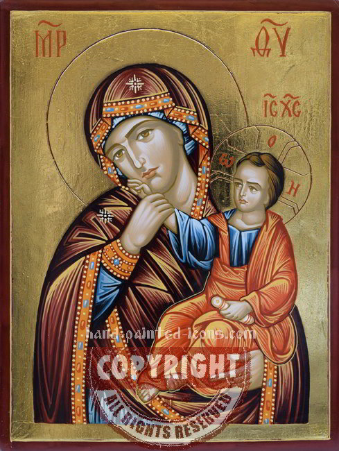 The Holy Virgin Otrada-hand-painted-icon