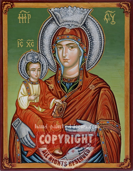 The Holy Virgin Three-handed-v2-hand-painted-icon