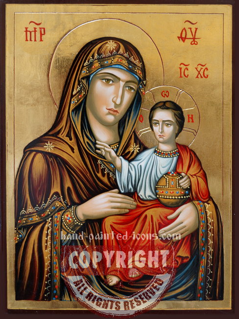 The Holy Virgin from Erusalem-hand-painted-icon