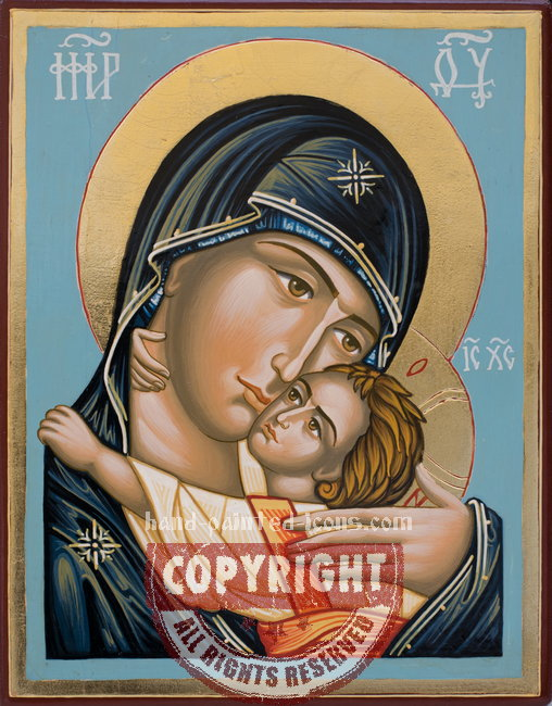 The Holy Virgin of Pskov-Russia-hand-painted-icon