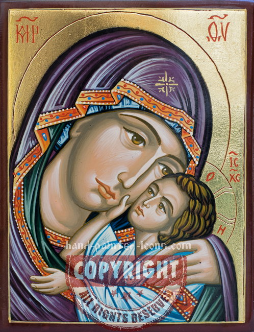 The Holy Virgin of Tenderness-hand-painted-icon