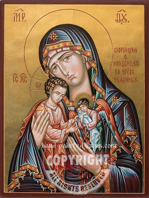 Icon of the Mother of God Mourning of babies killed in the womb
