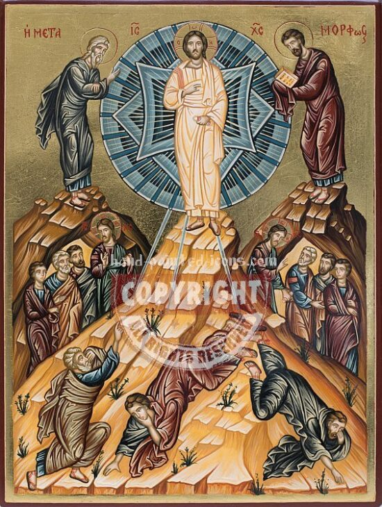 The Holy Transfiguration-hand-painted-icon-v2